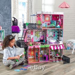 DOLLHOUSE PLAYSET KIT Girls Kids Furniture Miniature Playhouse Barbie Size Toys