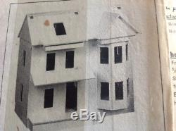DOLLHOUSE VINTAGE VICTORIAN SHELL KIT HALF-SCALE (124) used but never assembled