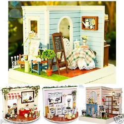 Diy Handgefertigte Miniatur-Projekt Kit The Country Houses in Lucky Town
