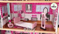 Dollhouse Casa De Muñecas Barbie Grande Con Juego De Mueble Cocina y Habitacion
