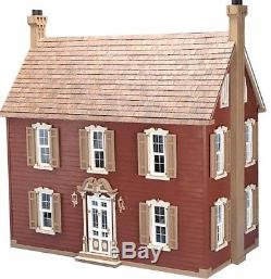 Dollhouse Doll House Hobbyist Kit Miniatures Wood Large Vintage Colonial Mansion