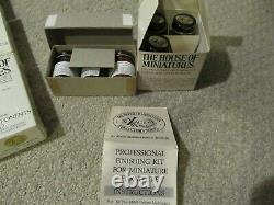 Dollhouse House of Miniature Xacto Lot Furniture Kits & Stains 112 Lot 22 Kits+