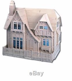 Dollhouse Kit Scale Vintage Furniture Glencroft Cottage Miniature Wood Kids Play
