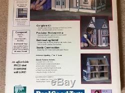 Dollhouse Kit, Victorias Farmhouse Model JM-1065, 8 Rooms doll house, Victorian