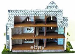 Dollhouse Miniature 1144 Scale St Beckham Gothic Victorian House Kit Complete