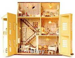 Dollhouse Miniature DIY House Kit Manual Creative With Furniture Romantic Art