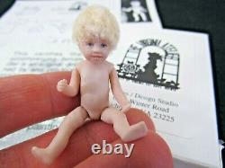 Dollhouse Miniature Doll TODDLER GIRL Porcelain Virginia Davis Orenyo NUMBERED