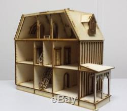 Dollhouse Miniature Kit Kristina Tudor Doll House Laser Kit 148 1/4 scale F41
