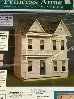 Dollhouse Miniature NIB #J-M975 Real Good Toys 6 Room Princess Anne Kit 112