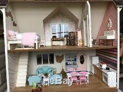 Dollhouse Real Good Toys Bungalow New, Fully Furnished, Gift Ready! 112 Scale