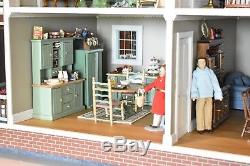 Dollhouse Real Good Toys Victoria's Farmhouse Completed with Furniture-Detailed