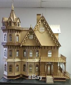 Dolls House Miniature 112 Lazer Cut Leon Gothic Victorian Mansion Flat Pack Kit