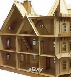 Dolls House Miniature 112 Lazer Cut Leon Gothic Victorian Mansion Flat Pack Kit