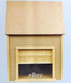 Dolls House Miniature 112 Scale Garage Kit Milled MDF Unpainted Flat Pack Kit