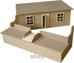 Dolls House Road Fronted Basement Unpainted Flat Pack Kit 112 Scale