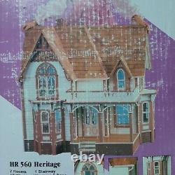 Dura Craft Heritage Dollhouse Kit Victorian Mansion Open box