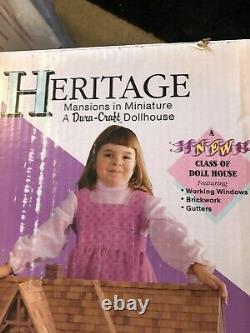 Dura Craft Heritage HR560 Dollhouse Kit Victorian Mansion Complete