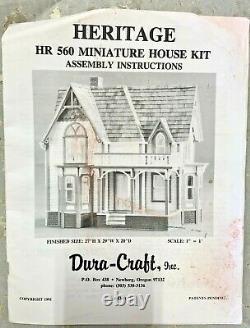 Duracraft Heritage HR560 Miniature Mansion Kit Opened Box, Complete