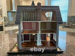 Fairfield Completed 1/24 Dollhouse with landscape base