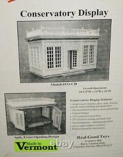 Front Open Conservatory Display 2003 by Real Good Toys Model FO-CD