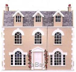 Georgian Dolls House 112 Scale Unpainted Flat Pack MDF Wood Kit Ash