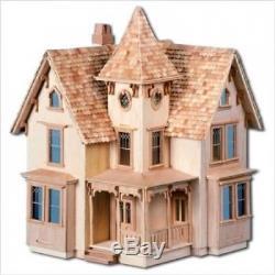 Greenleaf Fairfield Dollhouse Kit 1.3cm Scale. Greenleaf Doll Houses