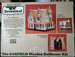 Greenleaf THE GARFIELD Victorian Wooden Dollhouse Kit, 42, NIB #8010, 10 Room
