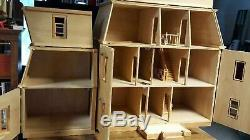 HOFCO FEDERAL VICTORIAN FRONT-OPENING DOLLHOUSE KW-174, Unfinished with 2 Wings