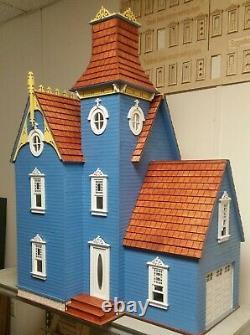 Hamlin Victorian 112 Dollhouse with Attached Working Garage