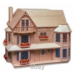 Harrison Tudor Farmhouse Dollhouse Miniature House (Partially Completed Kit)
