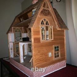 Heritage Mansion Dollhouse by Dura-Craft HR 560 with extras needs TLC 1991