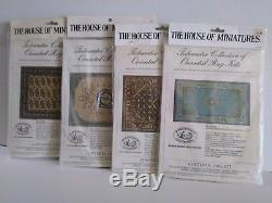House of Miniatures Complete Set (86) Colonial Wood Dollhouse Furniture Kits Lot