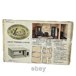 House of Miniatures X-acto Shadow Box Dollhouse Room Kit Vtg 1976 # 41200 NEW