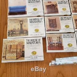 Huge Lot Of The House Of Miniatures X-Acto Doll House Furniture 30 Kits & Tools
