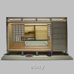 Japanese style Room SET of 3 Doll House Handmade Miniature Kit Wooden 1/12