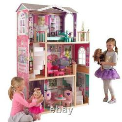 Jumbo Furniture Dollhouse American Girl Toy Tall Doll Play House Large Mansion