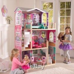 KidKraft 65830 Kids Elegant 18 Doll Manor House HUGE Large Big Wooden Dollhouse