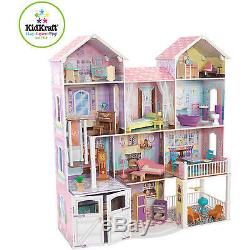 KidKraft Country Estate Wooden Dollhouse with 30 Pieces of Furniture