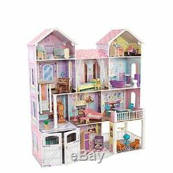 KidKraft Deluxe Wooden Big Dollhouse Doll House Barbie Size Furniture Girls Play