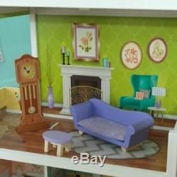 KidKraft Florence Dollhouse + 10 accessories Girls Barbie Doll House Playset Toy