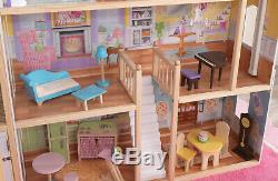 KidKraft Majestic Mansion Dollhouse with 34 Accessories Kids Girls Play Toys