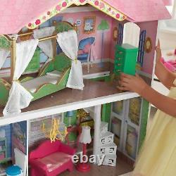 KidKraft Sweet Savannah & Penelope Wooden Pretend Play Doll Houses with Furniture