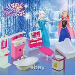 Kidcraft Dolls House Princess' Pink Little Villa With Furniture & Dolls Girls