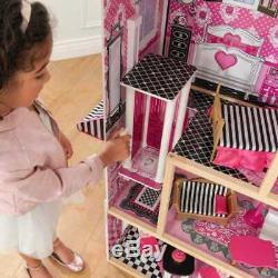 Kidkraft Bella Dollhouse Wooden Dollhouse Kids DollsHouse Fits Barbie Doll