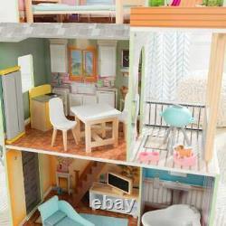 Kidkraft Hallie Play Dollhouse Wooden Dollhouse Includes Accessories