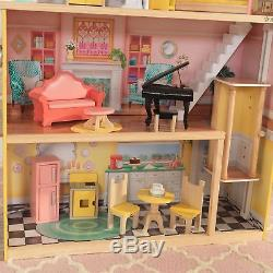 Kidkraft Lola Mansion Doll House Lights Sounds Elevator 30 Accessories New