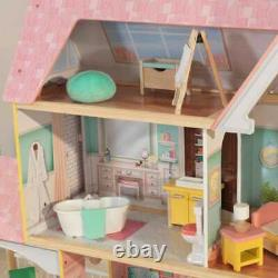 Kidkraft Lola Mansion Dollhouse with EZ Kraft Assembly Includes Accessories