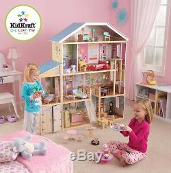 Kidkraft Majestic Mansion Large Wooden Dollhouse Fits Barbie Sized Dolls