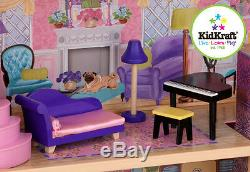 Kidkraft My Dream Mansion, Wooden Dollhouse with Lift fits Barbie