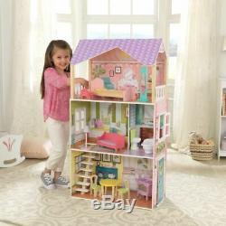 Kidkraft Poppy Dollhouse Wooden Dollhouse Fits Barbie Sized Dolls